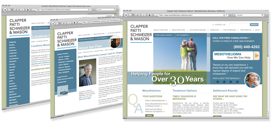 Law firm web design, development, seo and content management for Clapper Patti Schweizer & Mason